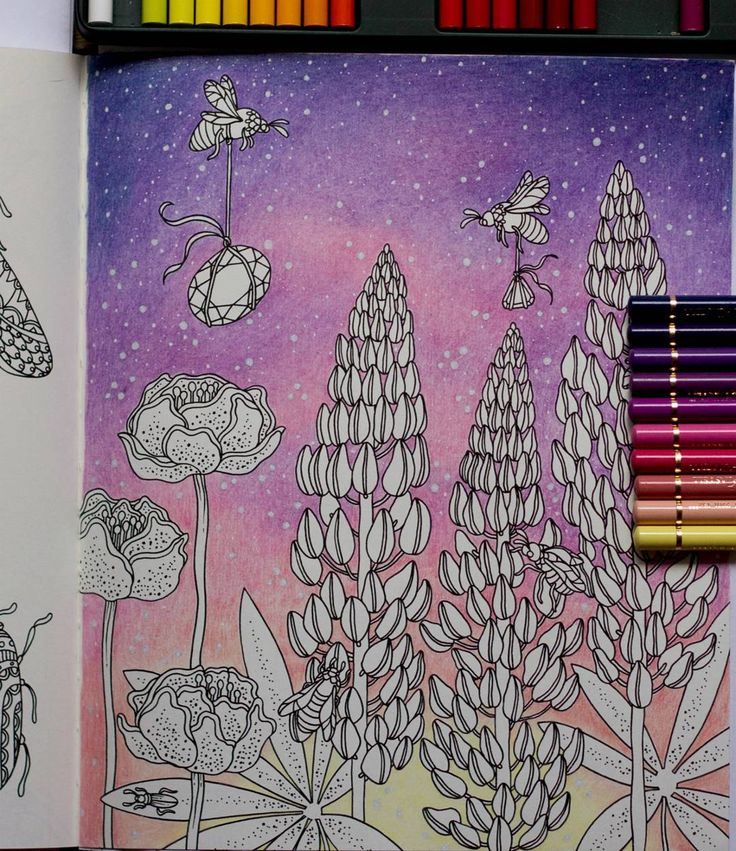 Background First Sommarnatt Hannakarlzon Coloring Coloringbook