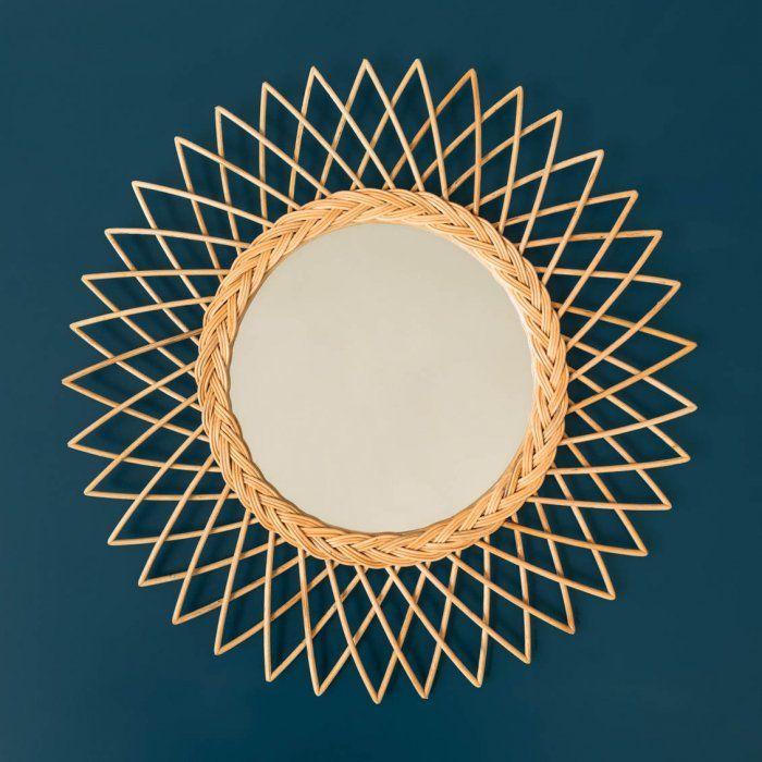 Les 25 meilleures id es de la cat gorie miroir de bambou for Petit miroir soleil