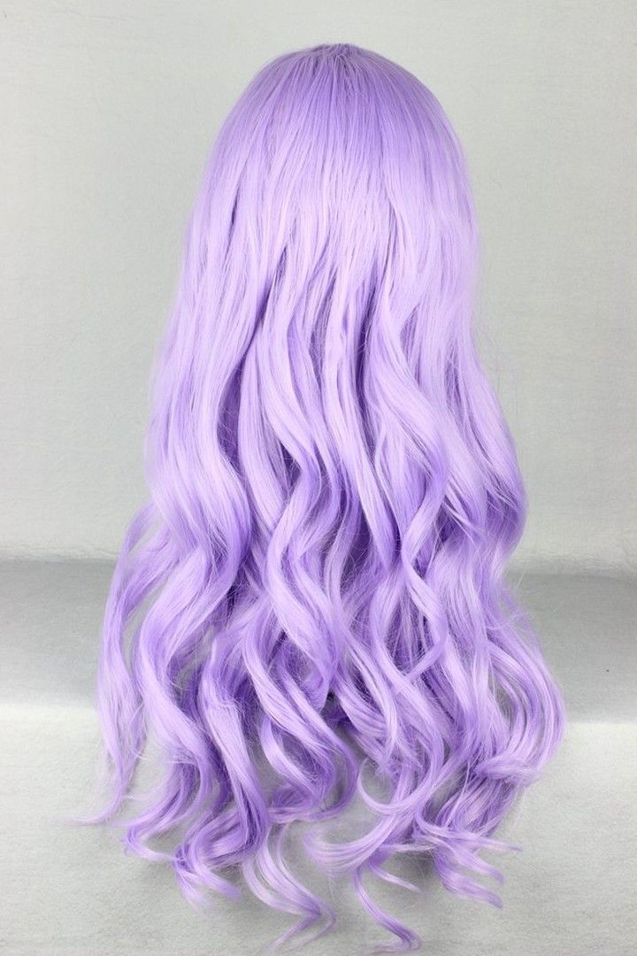 Long Wave wigs, Purple wigs, Cosplay Wigs
