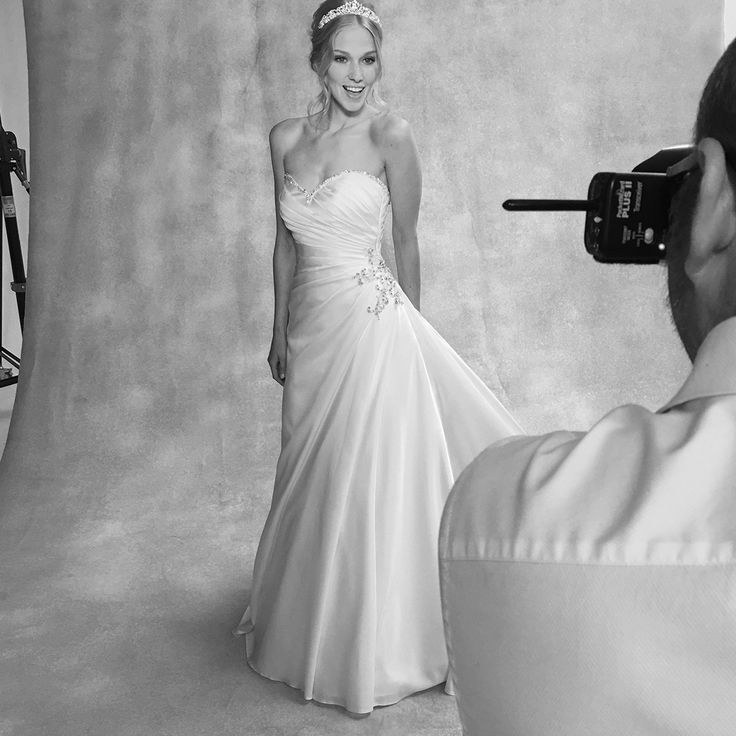The beautiful 'Venus' gown by Viva Bride 💕 Could this stunning slim A-line dress with pleated satin bodice be the one for you? 💕 http://bit.ly/VB-Venus