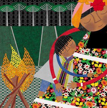 ALEJANDRA OVIEDO - Chile    Libro: Ilustración del libro la noche que nos regalaron el fuego.      También ilustró el libro: AnimaLetras - de la editorial Amamuta
