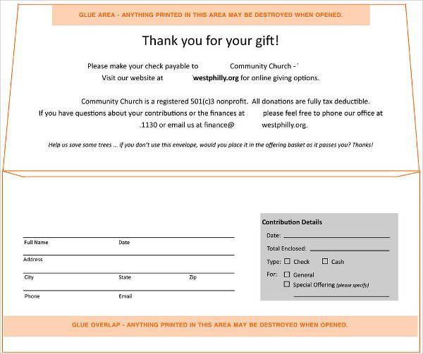 Donation Envelope Template Check More At Https Nationalgriefawarenessday Com 29767 Donation Envelope Template