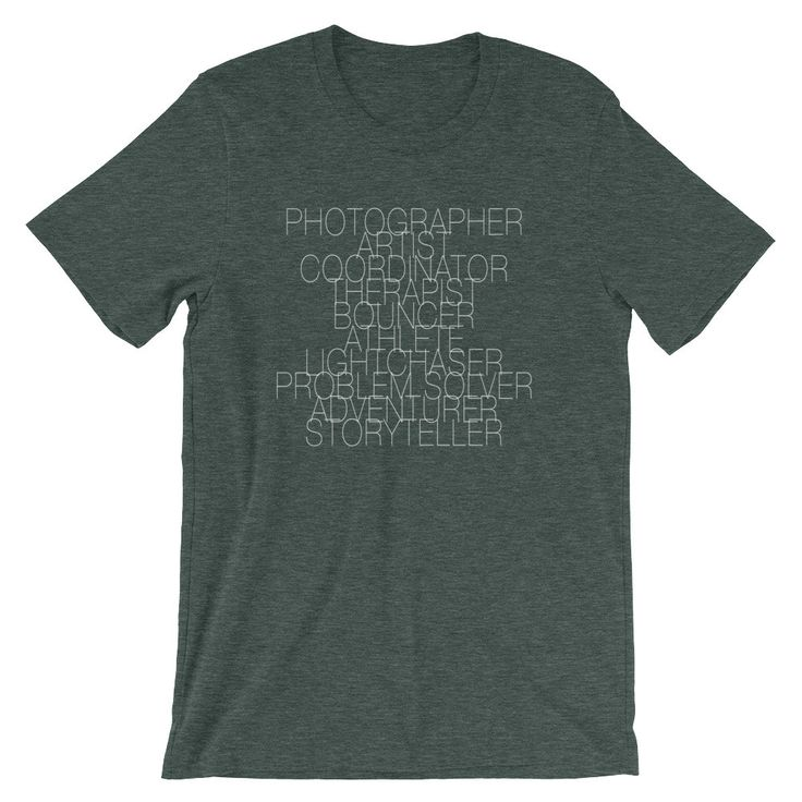 Wedding Photographer Job Description Shirt (9 Colors Available!)