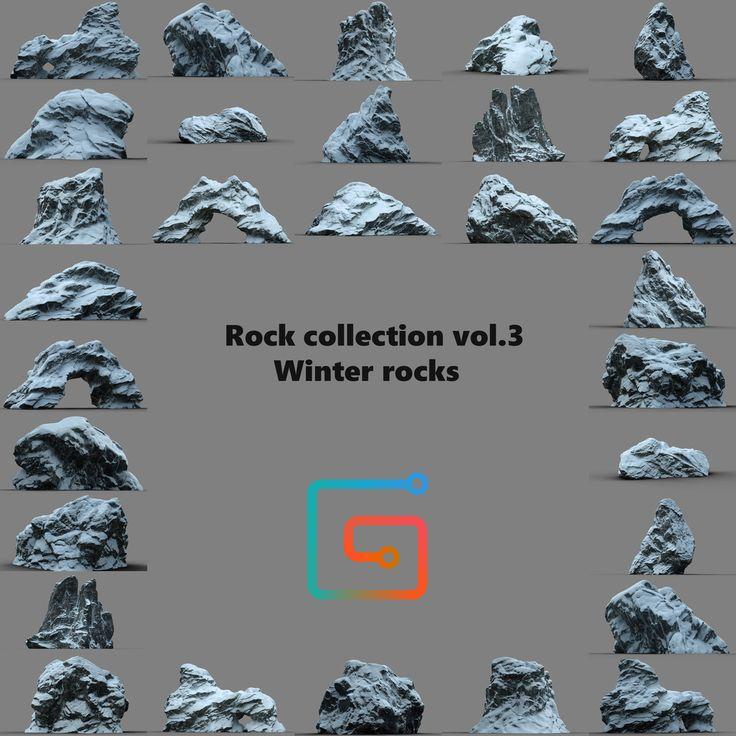 Snow Rocks 3D