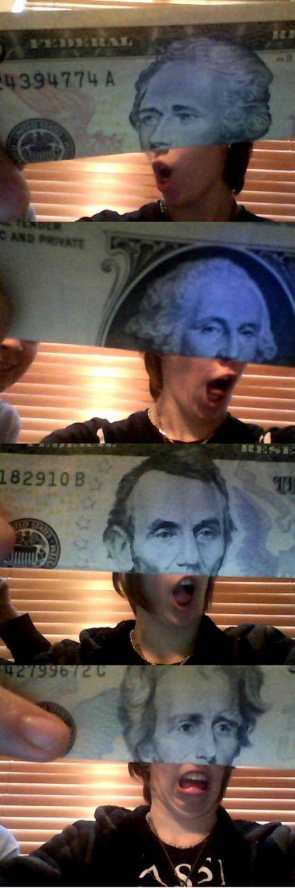 haha: Laughing So Hard, The Faces, Dollar Bill, U.S. Presidents, Money, Funny Stuff, Ice Cream, So Funny, Hilarious