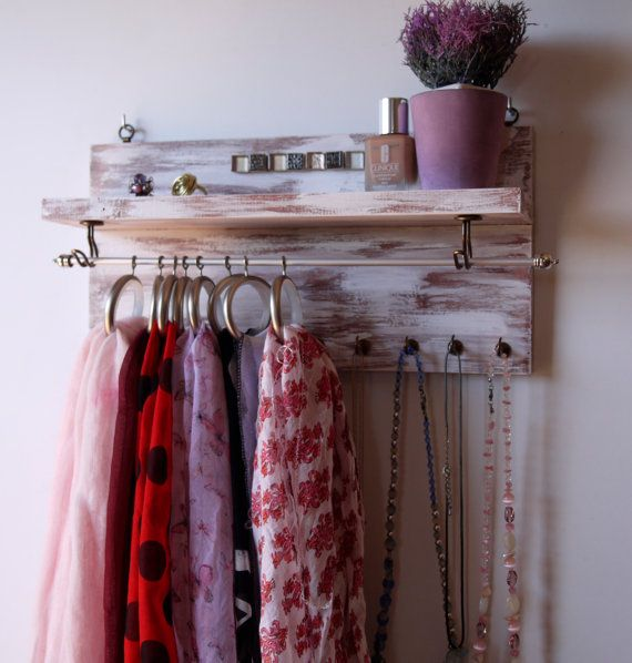 Scarf holder Necklace display. jewelry holder. by FineArtHolders