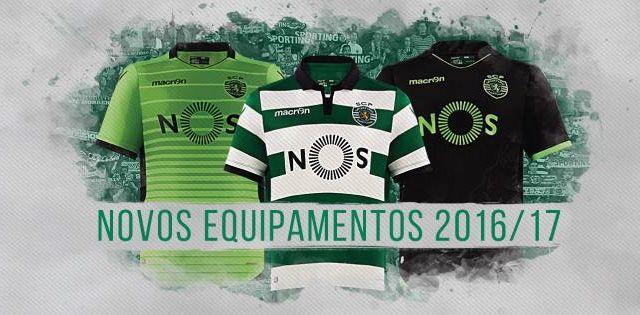 Camisas do Sporting Clube de Portugal 2016-2017 Macron