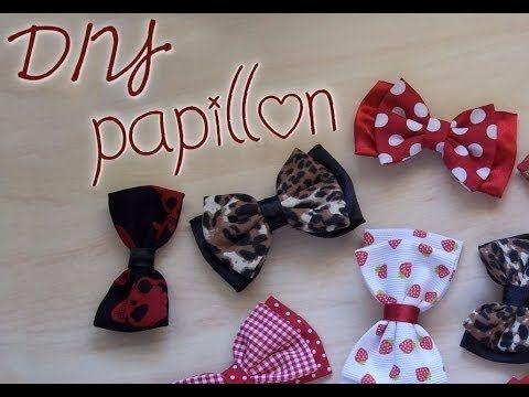 DIY: comment faire un noeud pour mettre dans les cheveux.....barrette / élastique / serre tête.....:-)...YouTube