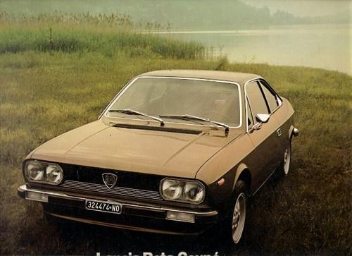 Lancia Beta Coupe Series 2 1977-79 UK Market Multilingual Brochure 1600 2000