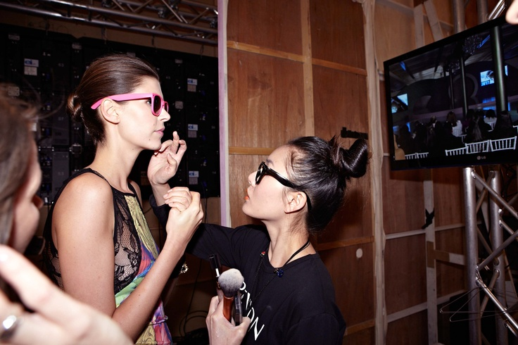 cool shades & top-knots backstage in Bardot @ 30 days of Fashion & Beauty