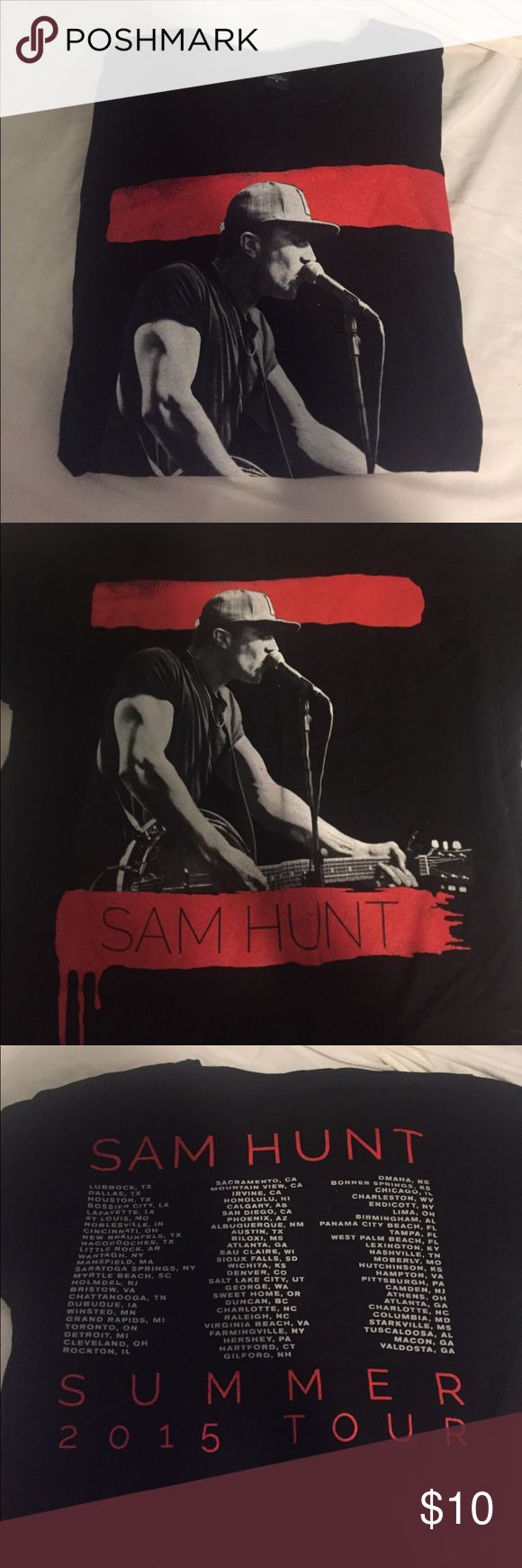 Sam Hunt t-shirt I got this from the Sam Hunt concert a while back and haven't worn it much. It's from the 2015 tour :) Tops Tees - Short Sleeve