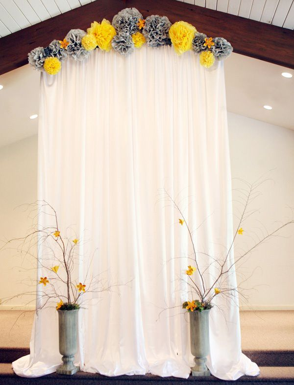 Indoor Wedding Ceremony Backdrop Wedding Simple But Very Romantic Borrow One Of 30 Wedding