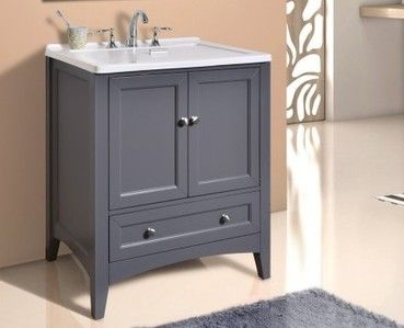 Share to get $5 off Stufurhome 30 inch Grey Laundry Utility Sink