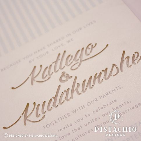 Text laser cutting wedding invitations by www.pistachiodesigns.co.za
