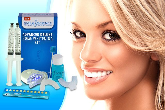 Wowcher | Deal - Smile Science/£19 instead of £129 (from Smile Science) for a peroxide-free LED home teeth whitening kit - brighten your smile & save 85%