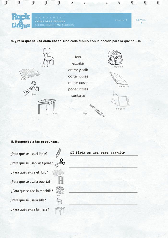 61 best images about spanish worksheets for kids on pinterest spanish daily routines and day. Black Bedroom Furniture Sets. Home Design Ideas