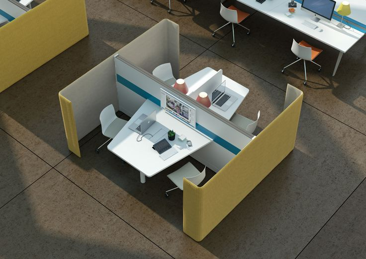 "POD is the Martex system dedicated to creation of workplaces where it is required a high level of ""focus"" and meeting or communication areas provided with acoustic and view separation from the open space."