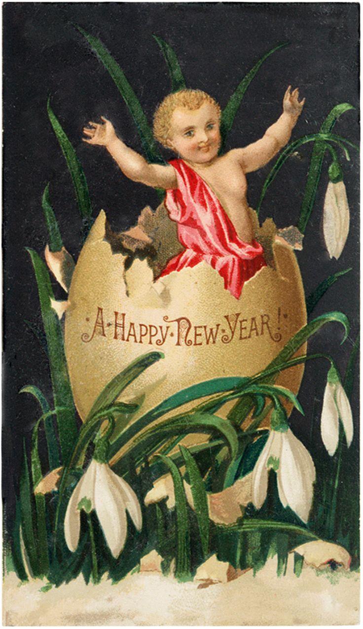 Cute Free New Year Cherub Image