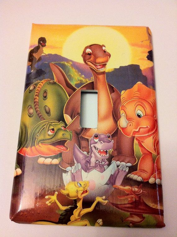 Baby Dinosaur Bedroom Decorations: The Land Before Time Dinosaur Room, Handmade Loght Switch
