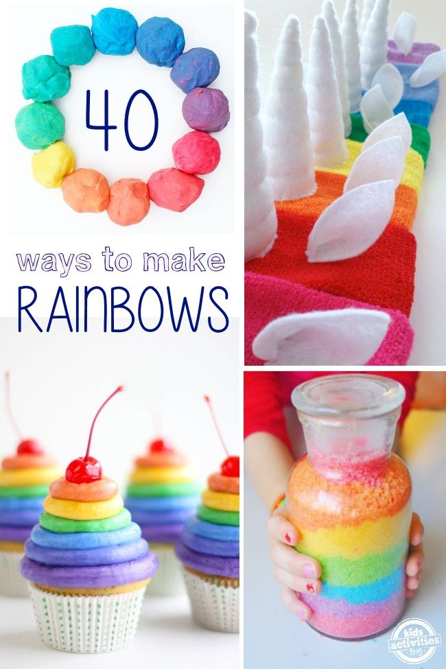 Super fun ways to make a rainbow! Crafts, treats and much more.