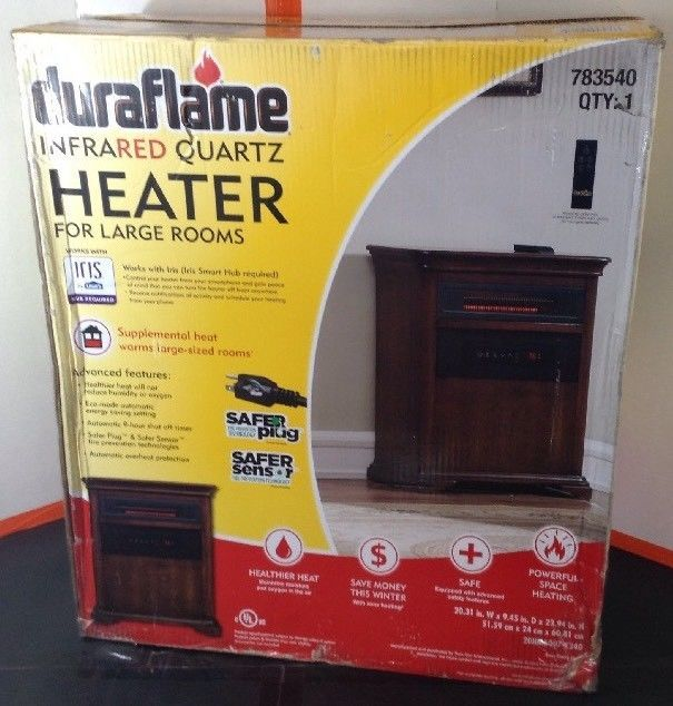 Duraflame 5 200 Btu Infrared Cabinet Electric Space Heater With