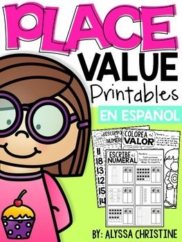 This pack includes various worksheets IN SPANISH that can be used to help students develop number sense around two digit numbers. These worksheets can be used as extra practice, homework or even small group intervention! The content in this packet includes:- Descomponiendo nmeros con 2 dgitos [x4]- Agrupando diez [x3]- Escribiendo el numeral un dibujo muestra [x4]- Recorta y pega marcos de diez y bloques de base diez que representan numerales [x4]- Coloreando bloques de base diez para…