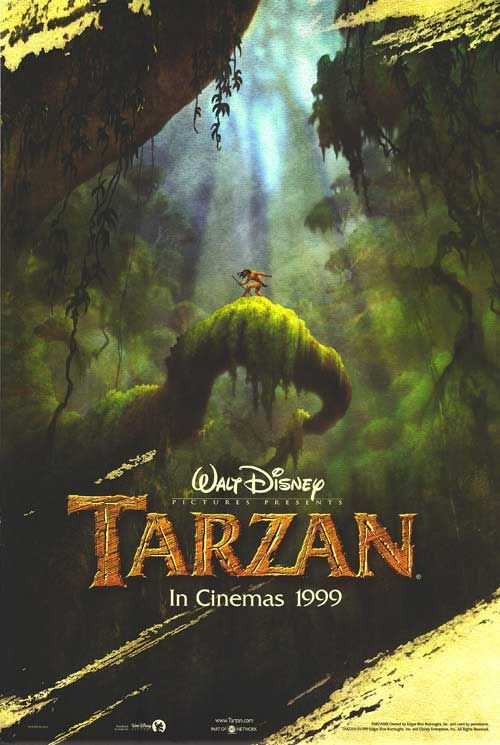 """""""Tarzan"""" - A man raised by gorillas must decide where he really belongs when he discovers he is a human. (1999)"""