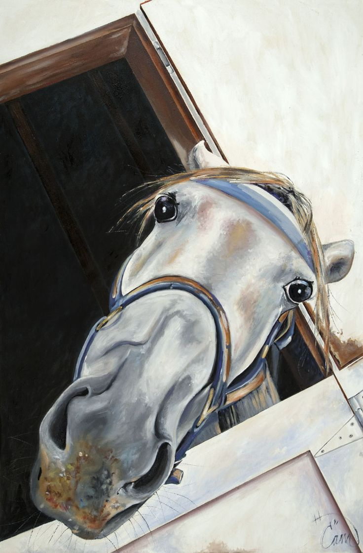"""Harry the Horse...Oil on panel 24"""" x 36"""""""