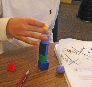 Math Problem-Solving: 3-D Shapes (Kinder - sample lesson plan flow)