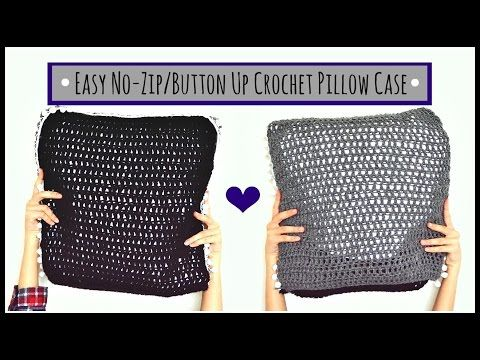 Easy No Zip/Button Crochet Pillow Case! | Ms. Craft Nerd - YouTube
