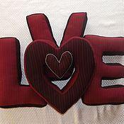 Для дома и интерьера ручной работы. Ярмарка Мастеров - ручная работа Буквы подушки LOVE. Handmade.