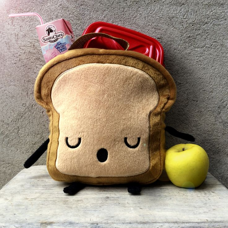 Get this on Etsy!  Mr. Little Bread Slice LunchBox is perfect to keep your kids or your lunch perfect and delicious! 20x20cm