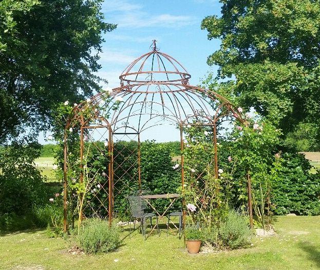 Simple Gartenpavillon Metall Romantik Rost cm