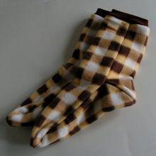 Fleece Socks with printable pattern