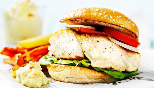 Burger med torsk