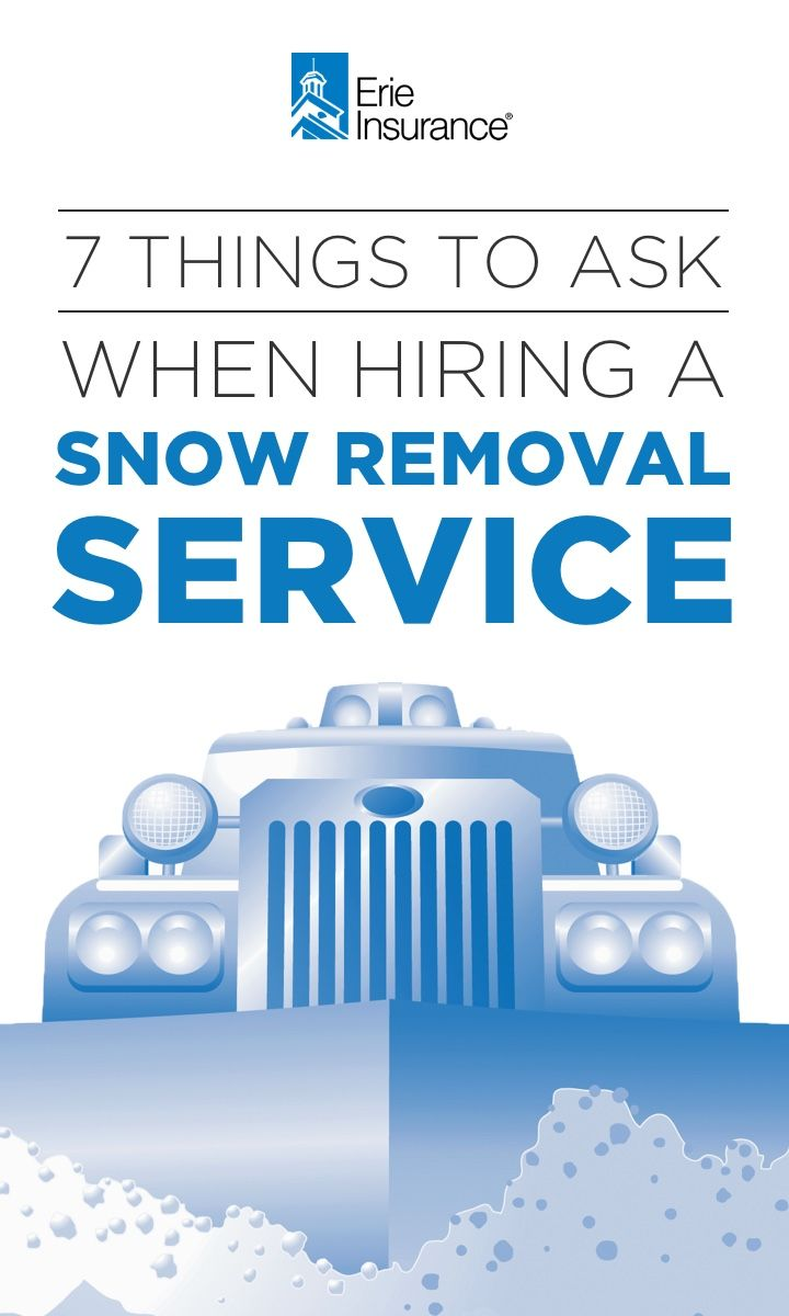 Hiring a local snow removal contractor may seem like a daunting task on your winter to-do list, but Erie Insurance has you covered. When hiring a snow plow service, remember to get at least three estimates, ask for references, and get your contract in writing.