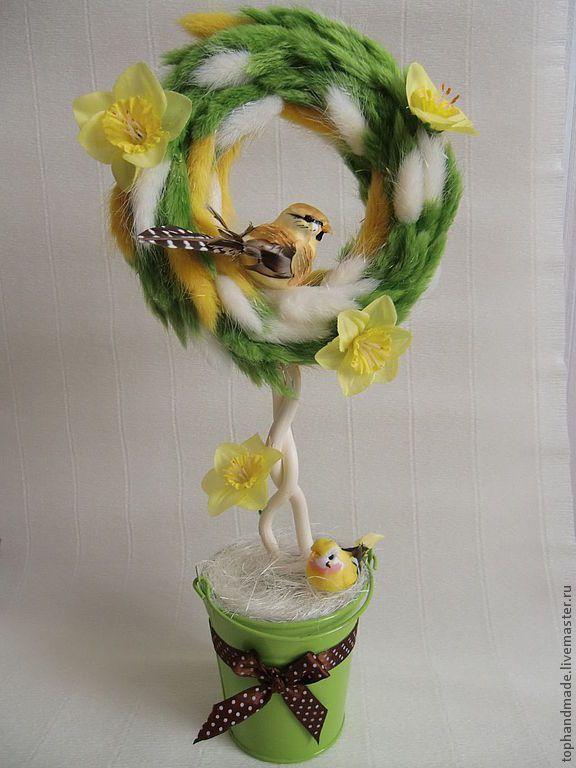 Купить Нежная весна. - топиарий, Дерево счастья, Пасха, пасхальное дерево, европейское дерево