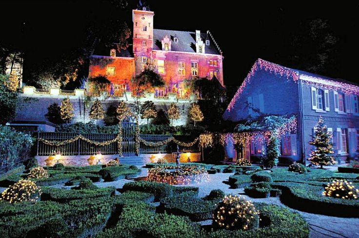 Andre's Castle at christmas