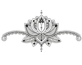 Sternum mandala temporary tattoo / Sternum tattoo / by Tattoorary