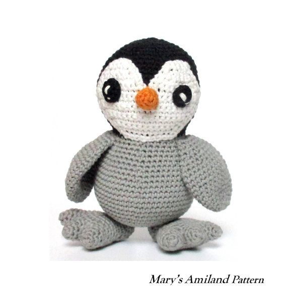 Caesar Baby Penguin The Ami  Amigurumi Crochet by MarysAmiland