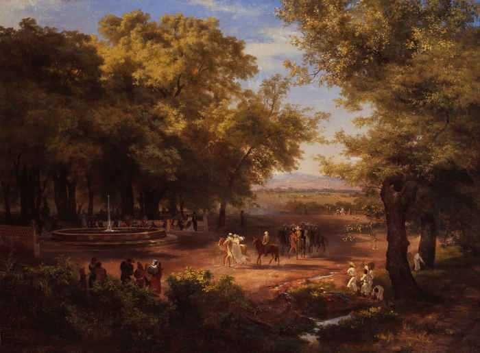 José María Velasco - La Alameda de México Óleo sobre tela 1866