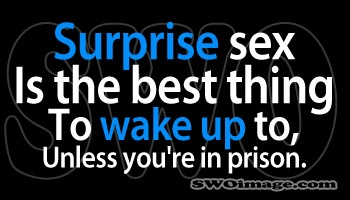 Surprise sex is the best thing to wake up to, unless you're in prisonWords Of Wisdom, Truths Hurts, Laugh, Funny Pics, Funny Stuff, Surpris Sex, Funnystuff, Legally Humor, True Stories