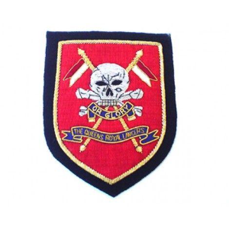 THE QUEENS ROYAL LANCERS BLAZER BADGE - Badges