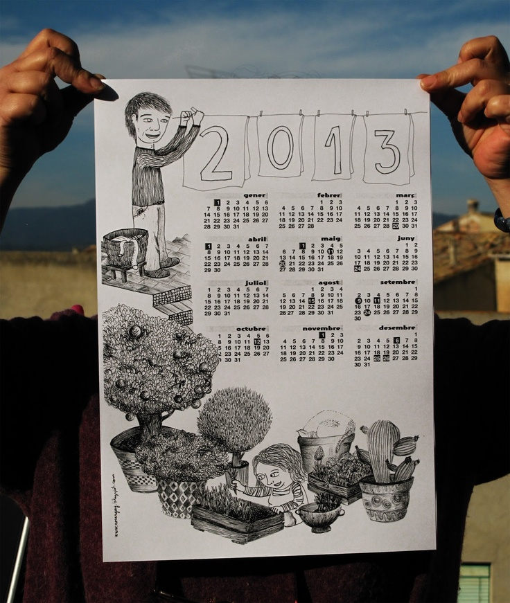 calendar 2013 in the garden