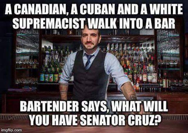 Funniest Ted Cruz Memes: A Guy Walks Into A Bar
