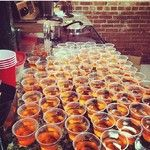 Rum Runner Jello Shot 1 box strawberry banana jello, 3 ounces ½ cup light, dark or spiced rum ½ cup triple sec