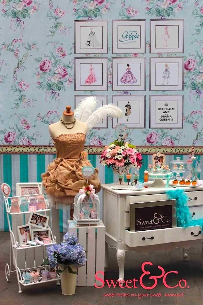 Drama Queen + Fashion Birthday Party {Ideas, Decor, Planning, Cake}