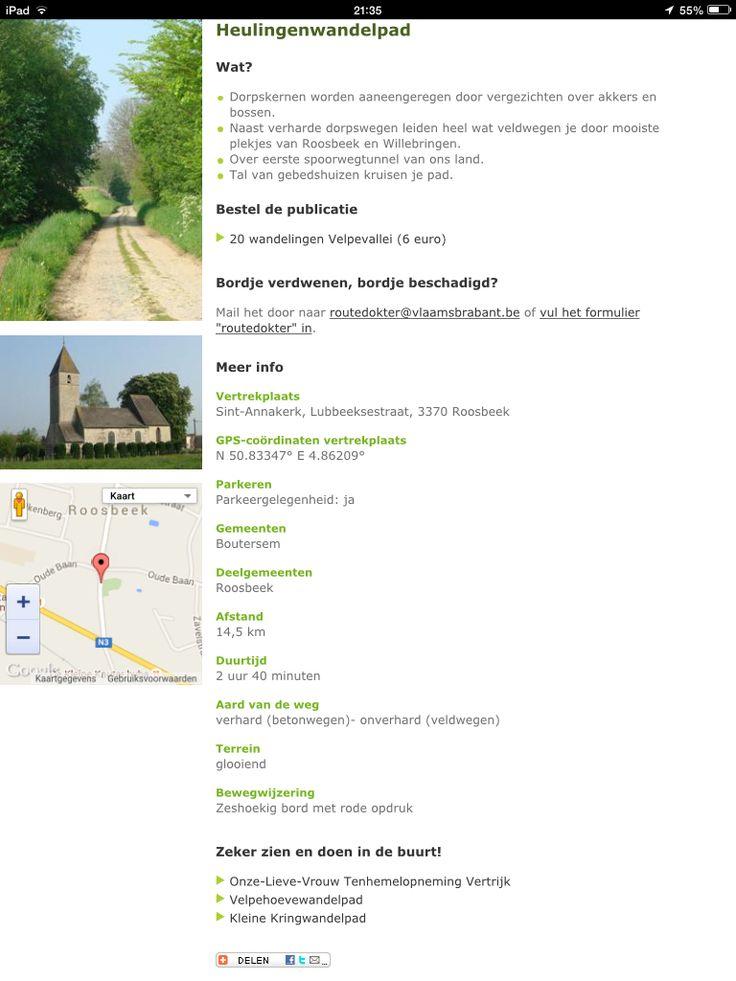 Heulingenwandeling - Roosbeek, Kumich, Willebringen Minder mooi, slechtere paden (veel stenen), tweede deel aangenamer.