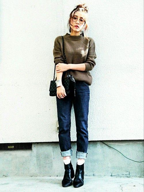 GUのニット・セーターを使ったmikiのコーディネートです。WEARはモデル・俳優・ショップスタッフなどの着こなしをチェックできるファッションコーディネートサイトです。