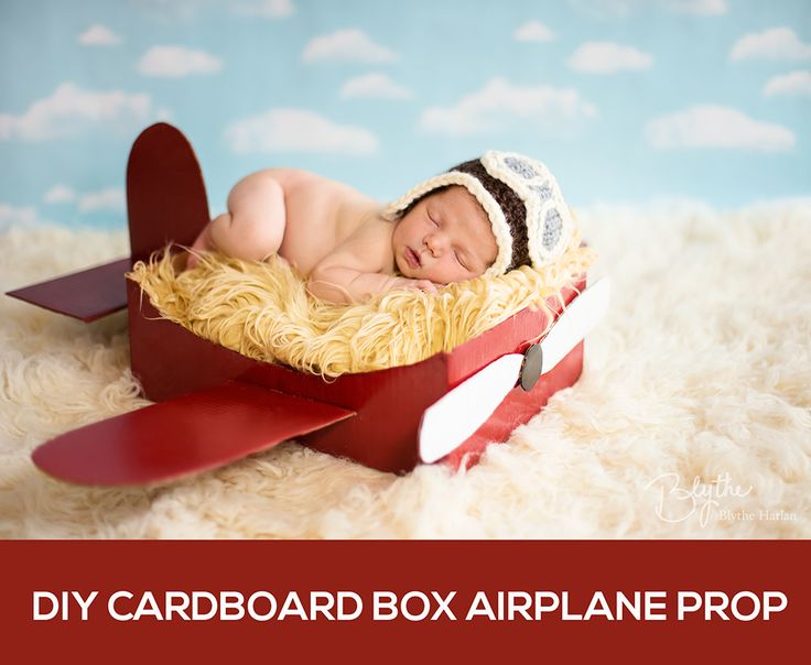 Make a DIY Box Airplane Prop for Newborn Photography
